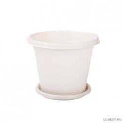 Горшок цветочный Эконом 1л (белый) (уп.24) М7253 г.Октябрьский
