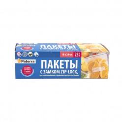 Пакеты для замораживания и хранения продуктов с замком Paterra 25шт в уп 1л, толщ40мкм 109-194