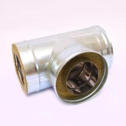 Сэндвич-тройник Ferrum 90° (430/0,5мм + оц.) 160х250