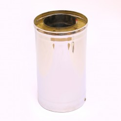 Сэндвич дымоход Ferrum 1,0м (430/0,5мм + оц.) 110х200