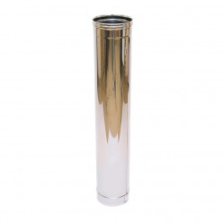 Дымоход одностенный Ferrum 1,0м (430/0,5 мм) 100
