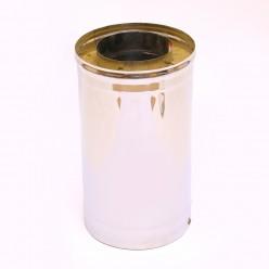 Сэндвич дымоход Ferrum 1,0м (430/0,5мм + нерж.) 80х160