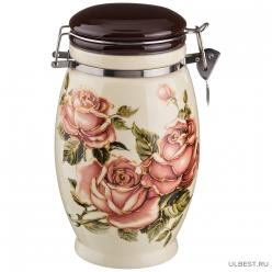 Емкость для сыпучих продуктов Lefard Корейская роза 1100 мл. высота=20 см 358-454