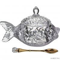 Икорница Lefard Рыбка с ложкой 15*7*10 см коллекция muza 355-231
