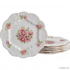 Набор тарелок из 6 шт Lefard Жаклин диаметр 24 см 127-526