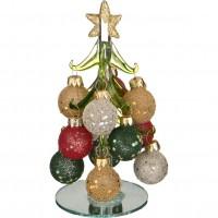 Елочка декоративная с шарами Lefard высота=15 см 594-098