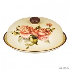 Блюдо для блинов с крышкой Lefard Корейская роза высота=10 см.диаметр=23 см 358-466