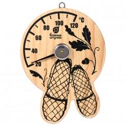 Термометр Лапти 16*17 см для бани и сауны Банные штучки 18040