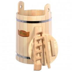 Кадка для воды и заготовки солений 30л с гнётом и замком липа Банные штучки 32690