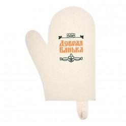 Рукавица для сауны Добрая банька Банные штучки войлок 100% 41045