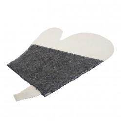 Рукавица для сауны Комби Банные штучки войлок 100% 41070