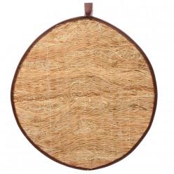Коврик из лыка круглый для бани и сауны 45*45 см Банные штучки 33265