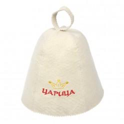 Шапка для бани и сауны Царица Банные штучки войлок 100% 41031