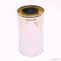 Сэндвич дымоход Ferrum 1,0м (430/0,5мм + нерж.) 110х200