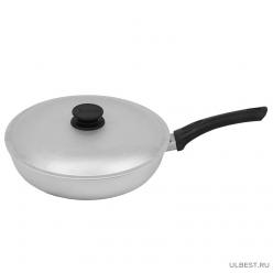 Сковорода Биол с ровным дном и крышкой 24 см артА243