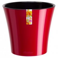 Кашпо со вставкой Santino Арте 1,2л красный-черный