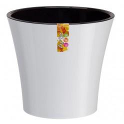 Кашпо со вставкой Santino Арте 1,2 л цвет бело-чёрный