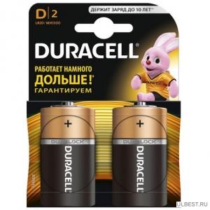Батарейки для газовой колонки DURACELL LR20 BL2 фото