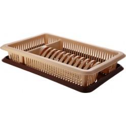 Сушилка для посуды с поддоном 1а ярусная Лилия ПЦ1563 ПЛАСТ-ТИМ