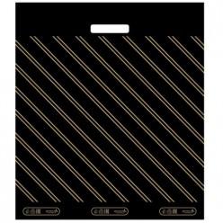 Пакет с вырубной усиленной ручкой 60 х 70(40) Золотая полоса Артпласт ВУР37541