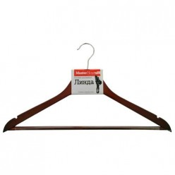 Плечики Линда деревянные с противоскольз. покрытием (60286) Мастер Хаус