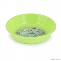Тарелка детская глубокая (зеленый) (уп.30) М8036