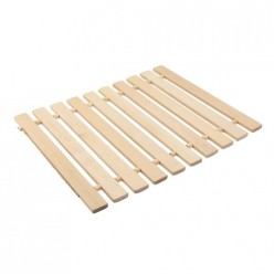 Коврик деревянный, липовая рейка, 46х35х2 Банные штучки/4 32134