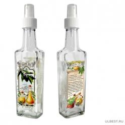 Бутылка с кнопочным распылителем для оливкового масла на пряных травах, 250 мл, стекло 626573