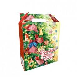 Коробка Волшебного Нового Года,для упаковки кондит изделий, картон 320г/м2, 27х19,4х7,9 см 82491