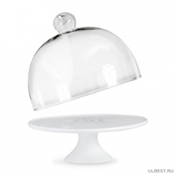 Подставка под торт JEWEL Космея 22 см (доломитовая керамика) JEWEL (ПС00080-05)
