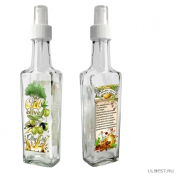 Бутылка с кнопочным распылителем для оливкового масла с корицей и гвоздикой, 250 мл, стекло 626575