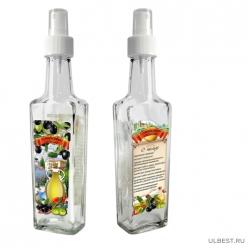 Бутылка с кнопочным распылителем для оливкового масла, 250 мл, стекло 626579