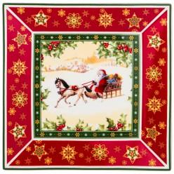 Блюдо Christmas collection 22,5*22,5 см. высота=2,5 см. 586-434