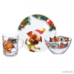 Набор посуды 3 пр., Новый год озорной семейки 628056