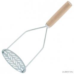 Картофелемялка с деревянной ручкой арт.004479