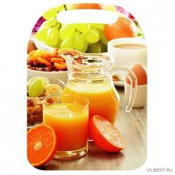 К-155 Доска разделочная с рисунком Апельсиновый сок 21*29см (22)