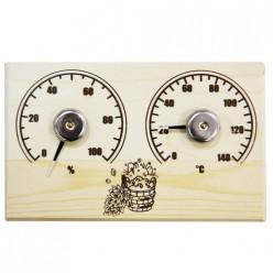 Банная станция открытая термометр+гидрометр прямоугольная СБО-2тг (67)