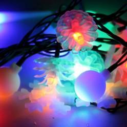 Гирлянда КОСМОС 30LED MIX2_RGB (Игрушки мультиколор, 4,4м, 8 режимов мигания)