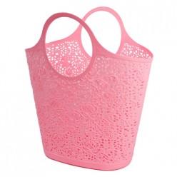 Сумка-корзинка кружевная розовый Fimako 3102
