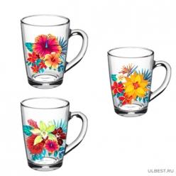 07с1334 ДЗ Тр.Цветы: Кружка Капучино (Тропические цветы)