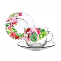 Чайная пара арт.337-Д (Фламинго в тропиках)