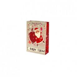 Бумажный пакет Санта, с ламин, ширина основания 33см, 140г/м2, 33х45,7х12,7см арт. 81093