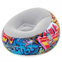 Кресло надувное Graffiti 112*112*66 см Bestway 75075 арт.006248