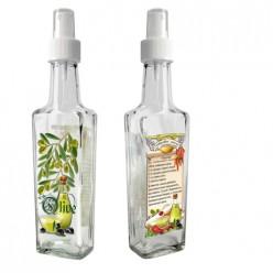 Бутылка с кнопочным распылителем для оливкового масла со специями, 250 мл, стекло 626572