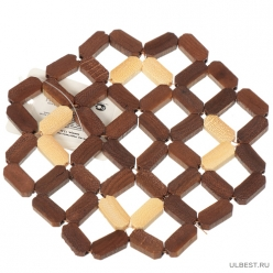 Плетенка Подставка под горячее круглая бамбук Y3-1151 I.K/ (321997)