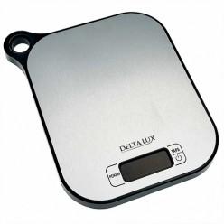 Весы настольные электронные DELTA LUX DE-001KE, 5кг, НЕРЖ.,с петелькой для подвешивания (12)