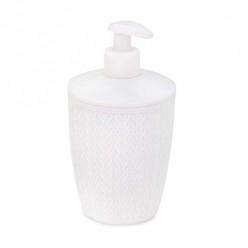 Дозатор для жидкого мыла Вязаное плетение (белый) (уп.16) М8048