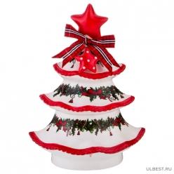 Банка для сыпучих продуктов коллекция Рождественское чудо елочка 16*10*22 см 300 мл 116-505