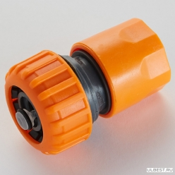 Соединитель с аквастопом 3/4 быстросъемный пласт.корпус ППГ-000024А