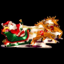 Световое панно Дед мороз в упряжке (986100)